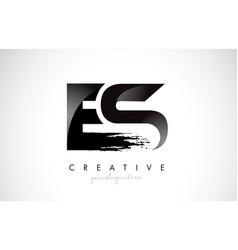 Es e s letter design with brush stroke and modern vector