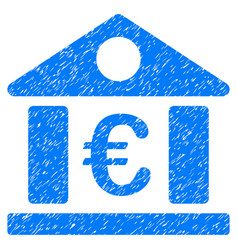 Euro bank museum grunge icon vector