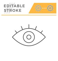 eye line icon vector image