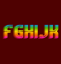 F g h i j k iridescent letters thrilling vector