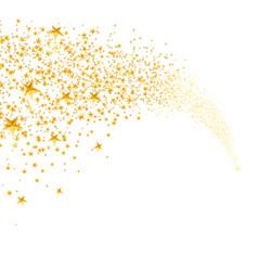 Falling golden stars dust shooting star vector