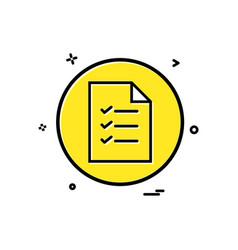 file basic icon design vector image
