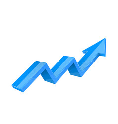 Financial trend up rising indication arrow blue vector