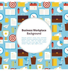 Flat Business Workplace Background vector image