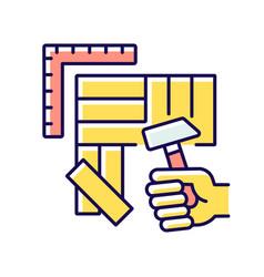 Flooring rgb color icon vector