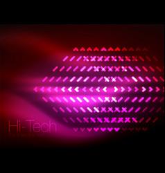 futuristic neon lights on dark background digital vector image