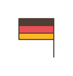 germany flag oktoberfest icon line filled vector image