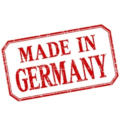 Germany - made in red vintage isolated label vector