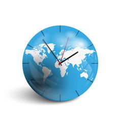 Globe world clock vector