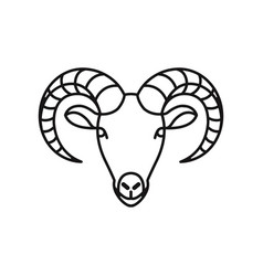 goat head icon vector image