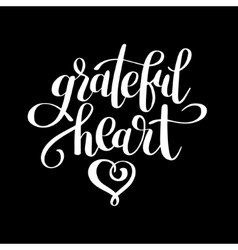 grateful heart black and white handwritten vector image