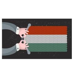 Hand made flag of Hungary vector