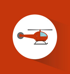helicopter transport vehicle image vector image