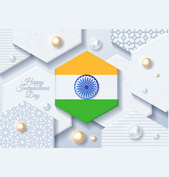 india independence day india 15th august vector image