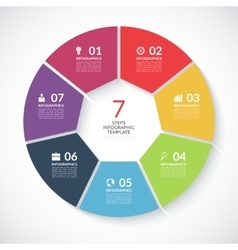 Infographic circle banner vector image