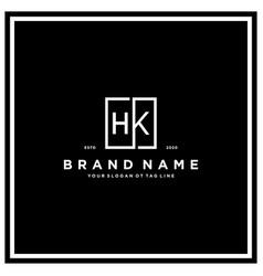 Letter hk square logo design concept vector