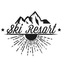 logos of a ski resort adventure vector image