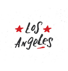 Los angeles lettering handwritten sign hand drawn vector
