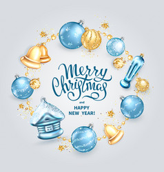 merry christmas decoration 2019 vector image