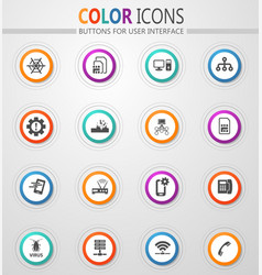 Mobile connection icons set vector