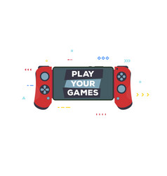 modern gamepad for phone vector image