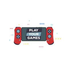 modern gamepad for phone vector image