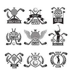 monochrome labels for golf club for vector image