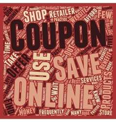 Online Coupon The Benefits text background vector image