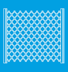 perforated gate icon outline style vector image