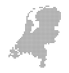 Pixel map of netherlands dotted map of vector