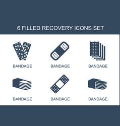 recovery icons vector image
