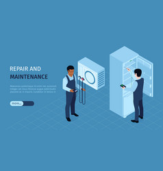 Repair service horizontal banner vector