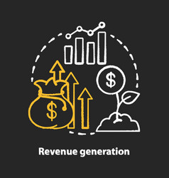 Revenue generation chalk concept icon success vector