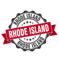 Rhode island round ribbon seal vector