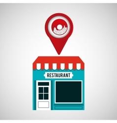 Smartphone store donut app location vector