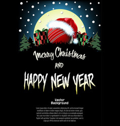 sport christmas and new year pattern vector image