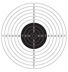 Sports olympic shooting target vector