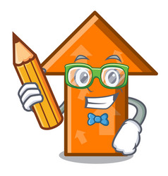 student arrow character cartoon style vector image