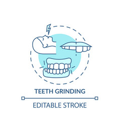 Teeth grinding turquoise concept icon vector