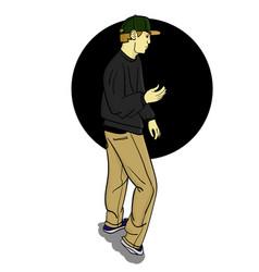 the man in grey is dancing eps 8 vector image
