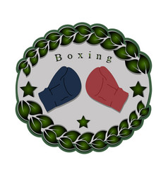 The theme boxing vector