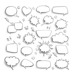 thought bubble comic cartoon empty talk and vector image
