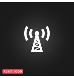 Transmitter flat icon vector