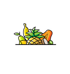 Tropical fruits logo vector