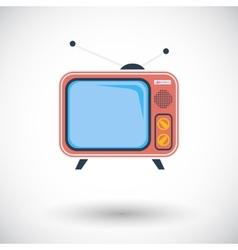 TV single icon vector