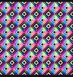Vibrant mosaic seamless pattern vector