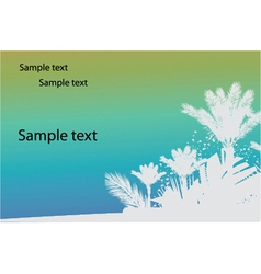 Vintage summer background with palm trees vector