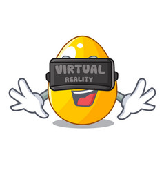 virtual reality simple gold egg on design vector image