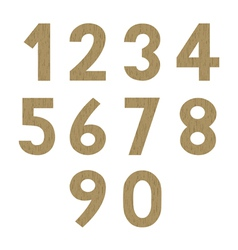 Wood pattern numbers vector image