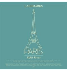 World landmarks paris france eiffel tower graphic vector